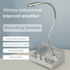 Dual Way Window Glass Counter Intercom Speaker System For Office Hospital Store