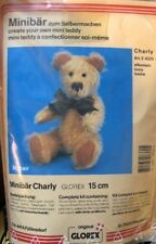 NEW Glorex Minibar Mini Bear MOHAIR Make Your Own Teddy Kit Charley 15cm