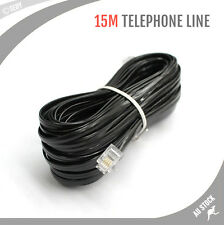 15m Telephone Line Phone ADSL Cable RJ11 4 Pins Extension Cord Lead Wire Plug