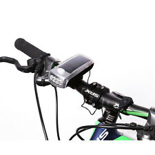 Rechargeable 4 LED Bike Bicycle Cycing Solar Power USB HeadLight Lamp Flashlight