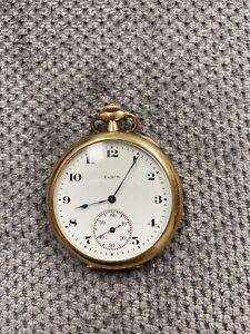 Elgin Pocket Watch Swing Out Case 12s 7J 10K G.f. 303 Repair-Parts Only