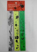 Armband Reflektor Schnapparmband Kinder Halloween Karneval Sicherheit 3er Set