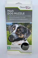 """Good2Go Mesh Dog Muzzle Large 2485574 6""""-8"""" Nose Circumference Labs Setters"""
