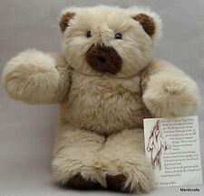 Pouzeli Canada Artist Teddy Bear Plush 22in Heart in Chest Certificate Vintage