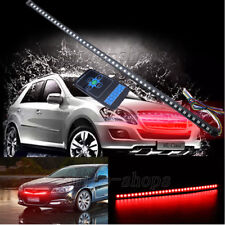 Red 56CM 48LED Car Knight Rider Strip Light Under Hood Behind Grille w/ Remote