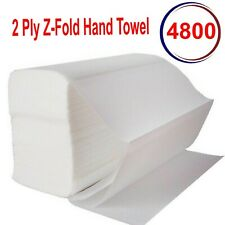 More details for luxury white 2ply z fold paper hand towels multifold napkins