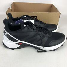 Salomon Supercross Hiking Shoes Men's Size 12 Black 409297