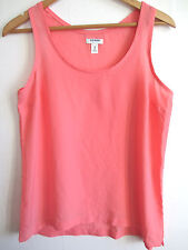 OLD NAVY womens sleeveless tank top M MEDIUM scoop neck solid pink salmon casual
