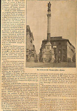 CINQUANTENAIRE IMMACULEE CONCEPTION COLONNE ROME ROMA ARTICLE DE PRESSE 1904