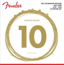 Fender 70-12L Acoustic 80-20 Bronze 12 String Guitar Set,Light, MPN 073-0070-402