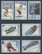 LAOS N°749/755**  Jeux olympiques Calgary 1987, winter olympics Sc#758-764 MNH