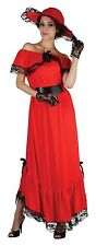 Ladies Scarlet O'Hara 1930s 30s Book Film Fancy Dress Costume Outfit 10-12-14