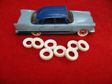 Small Treaded Tires for French Dinkys and American Cars, white, 15mm, Lot of 8