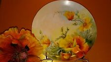 Antique Thomas Bavaria Plate With Poppies