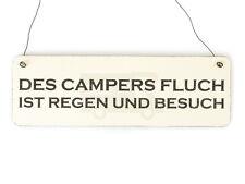 Shabby Vintage Schild Türschild DES CAMPERS FLUCH Holzschild Geschenk Camping