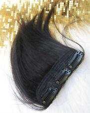 Men Silk Straight Hair Clip in Hair Bang Fringe One Piece Hair piece Cover Loss