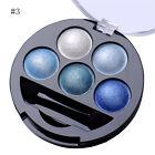 Maquillaje Brillo Sombra de ojos polvo paleta Metálico Sombra de ojos cosmético