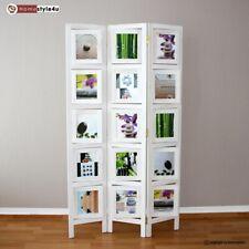 B-Ware 3 fach Paravent Raumteiler Holz Trennwand Whitewash Fotowand  Homestyle4u