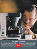 MELITTA AROMALINE - PUBLICITE PRESSE  PAPER ADVERT 1988 ALLEMAGNE