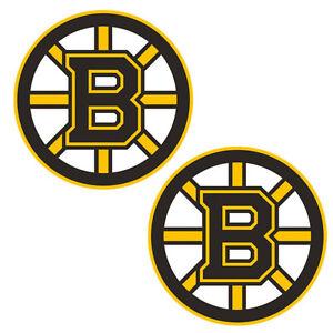 Boston Bruins set of 2 Cornhole Board Indoor/Outdoor Decals large -12inch