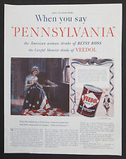 Veedol Motor Oil Pennsylvania Tide Water Oil Co 1939 Original Vintage Print Ad