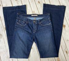 J Brand Bell Bottom Flare Low Rise Stretch Jeans Sz 29 Dark Wash 722 DKV