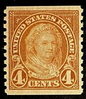US Stamps, Scott #601 4c 1923 2020 PSE Certificate XF 90 M/NH. Gorgeous!