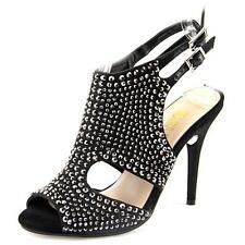 Spot On F1r0057 Damen Elfenbein Satin Absatz Schuhe r29b J&k