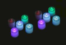 20 pcs Led Teelicht Timer elektrische Mehrfarbig Batterie Kerze Kerzen Flamme