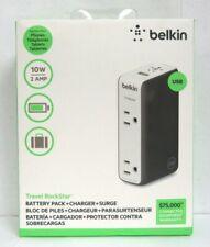 NOB Belkin Travel Rockstar USB & Dual Outlet Surge Protector Battery Pack