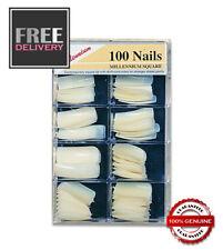 MILLENNIUM SQUARE NAIL TIPS (100 BOX) 10 sizes ~ UK SELLER ~ FREE P&P