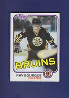 Ray Bourque HOF 1981-82 Topps Hockey #5 (NM) Boston Bruins