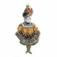 MacKenzie-Childs Glass Ornament Miss Kitty Kat-Chicken Palace Ball Collection