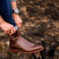 Handmade Mens Brown Leather Jodhpurs Boot, Men Leather Ankle boot, Mens boots