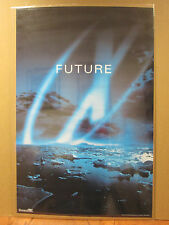 """vintage The X Files Tv series """"FUTURE"""" poster 1998 6429"""