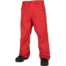 Volcom Carbon Shell Snowboard Pants, Men's Extra Large XL, Fire Red New