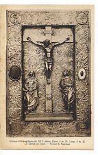 reliure d'evangéliaire  du XVI siècle  le christ en croix  trésor de conques