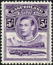 Basutoland 1938 KGVI  5/- Violet  SG.27  Mint (Very Lightly Hinged)