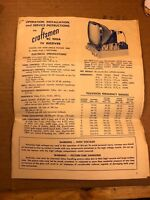 Craftsmen RC 100A TV Owner's Instruction Service Manual Original Paper Schematic