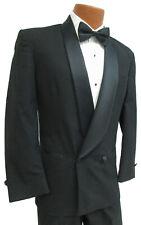 Men's Black Double Breasted Tuxedo Jacket Halloween Costume Discount Sale 38R