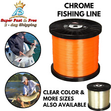 Chrome Mono Fishing Line High Tensile Strength Saltwater High Visible Fishing