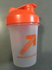 SmartShake v2lite -EBOOST Water Bottle , Clear w/Orange , 13 oz/400 ml BPA Free