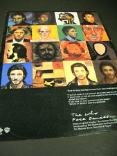 THE WHO ..how do they keep their skin looking young FACE DANCES Promo Poster Ad