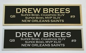Drew Brees nameplate for signed jersey football helmet or photo