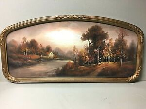 Antique Late 1800's WILLIAM H. CHANDLER Pastel Chalk Painting In Antique Frame!