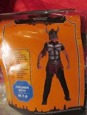 Death Warrior Halloween Coatume Boys Size M 7/8 NWT