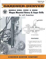 Equipment Brochure - Gardner-Denver - Uerm et al - Rotary Auger Drills (E3570)
