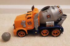 Matchbox CEMENT CHUCKER Concrete Throwing Mixer Truck Sounds Mattel toy J4768