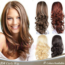 """OneDor 23"""" Curly 3/4 Head Lady Japanese Synthetic Kanekalon Hair Wig with Combs"""