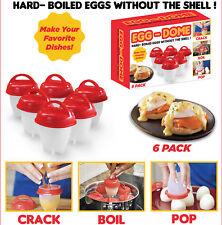 6 x hart gekochte Eier ohne Schale-Egg Boiler ohne Schale-einfach kochen Eier